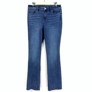 Chicos Platinum Barely Boot Jeans High Rise 1 Tall